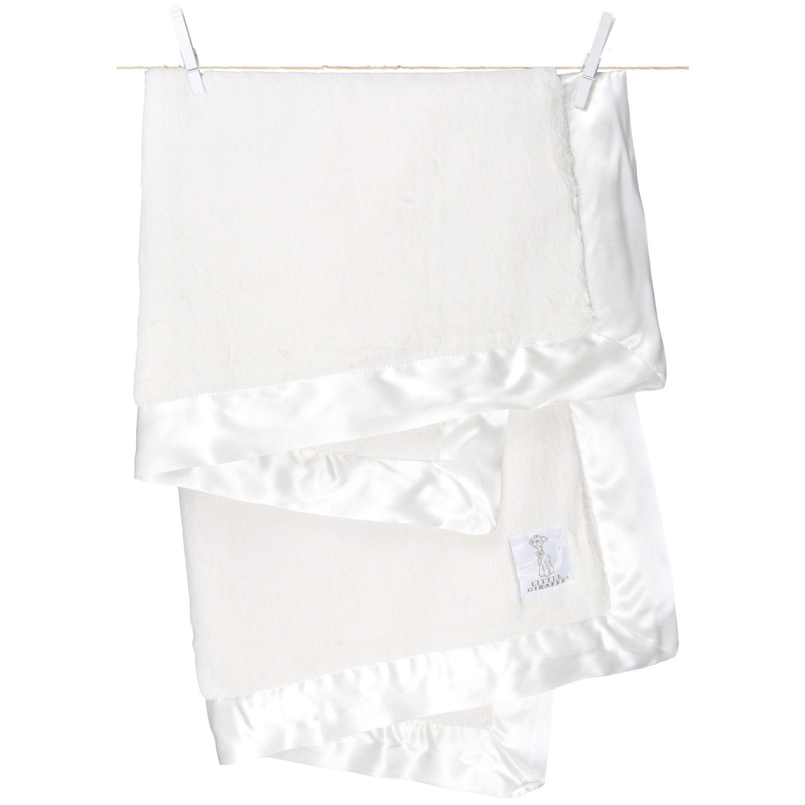 Little Giraffe White Luxe Baby Blanket (White) (Polyester...