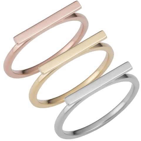 Fremada 14k Gold Horizontal Bar Ring (yellow gold, white gold or rose gold)