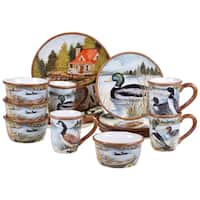 Certified International Lake Life 16 -Piece Dinnerware Set