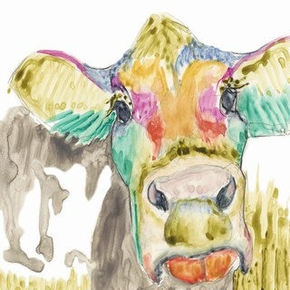 Hifi Cow II' Painting Print on Wrapped Canvas