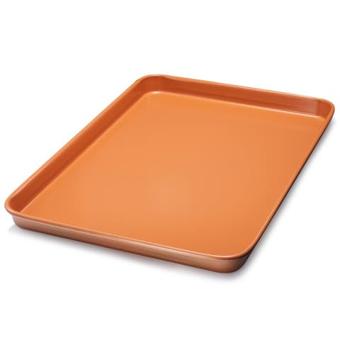Gotham Steel Nonstick Copper Cookie Sheet and Jelly Roll Baking Pan