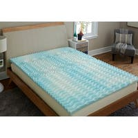 TruPedic USA CoolFlow 2-inch 5 Zone Textured Gel Memory Foam Mattress Topper