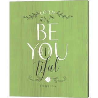 Tammy Apple 'Be Youtiful - Green' Canvas Art