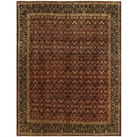 Herat Oriental Persian Hand-knotted Moud Wool Rug (10'1 x 13'2)