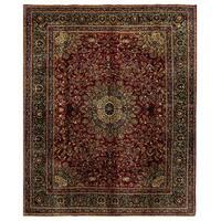 Handmade Herat Oriental Persian Mashad Wool Rug - 10' x 12'6 (Iran)
