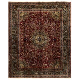 Handmade Herat Oriental Persian Mashad Wool Rug (Iran) - 10' x 12'6