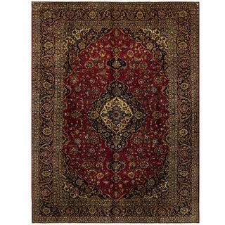 Herat Oriental Persian Hand-knotted Kashan Wool Rug (8'10 x 11'9)