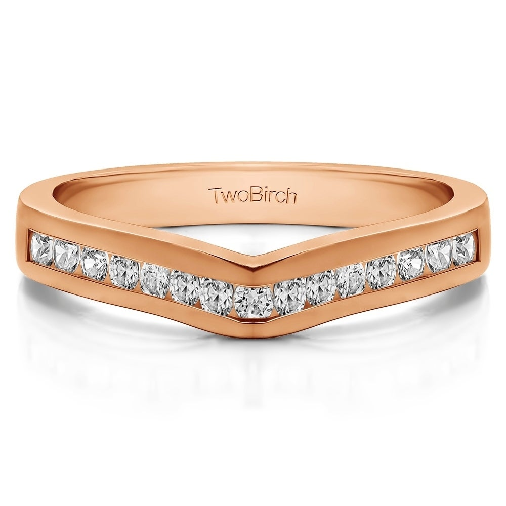 Size-10.75 G-H,I2-I3 Diamond Wedding Band in 10K Yellow Gold 1//20 cttw,