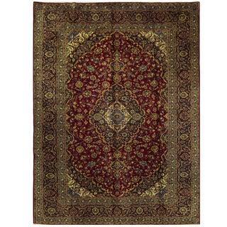 Herat Oriental Persian Hand-knotted Kashan Wool Rug (9'1 x 12'4)