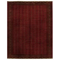Herat Oriental Persian Hand-knotted Turkoman Wool Rug (9'7 x 10'1)