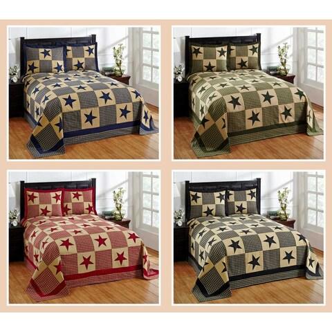 Star 100-percent Cotton Star Bedspread Set