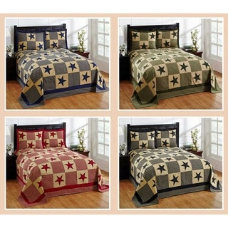 Star 100-percent Cotton Star Bedspread Set (More options available)