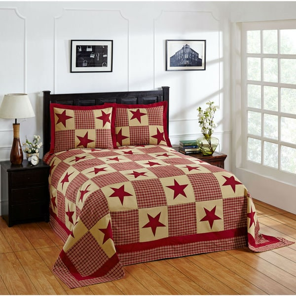 Star 100-percent Cotton Star Bedspread Set