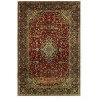 Herat Oriental Persian Hand-knotted Kashan Wool Rug (8'3 x 12'4)