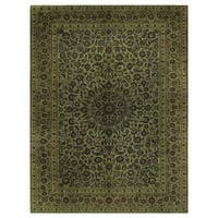 Handmade Herat Oriental Persian Kashan Wool Rug - 10'1 x 13'7 (Iran)