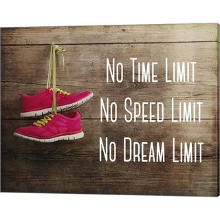 Sports Mania 'No Time Limit No Speed Limit No Dream Limit Pink Shoes' Canvas Art