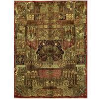Handmade Herat Oriental Persian Kashmar Wool Rug - 9'7 x 12'8 (Iran)