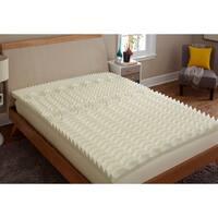 TruPedic USA CoolFlow 5 Zone 3-inch Textured Memory Foam Mattress Topper