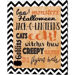 Natasha Wescoat 'Halloween Typog 2' Canvas Art
