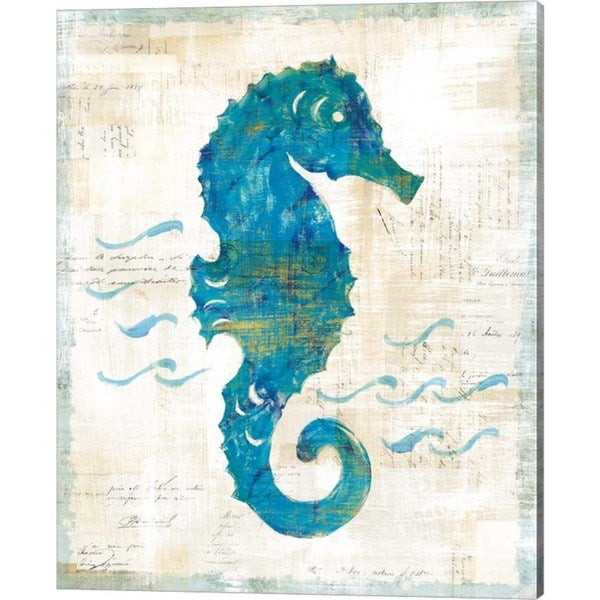 Sue Schlabach 'On the Waves III' Canvas Art