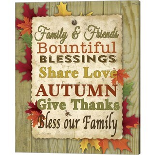 Jean Plout 'Family and Friends - Fall' Canvas Art