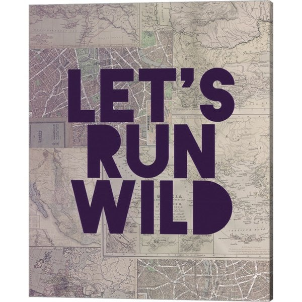 Leah Flores 'Let's Run Wild' Canvas Art