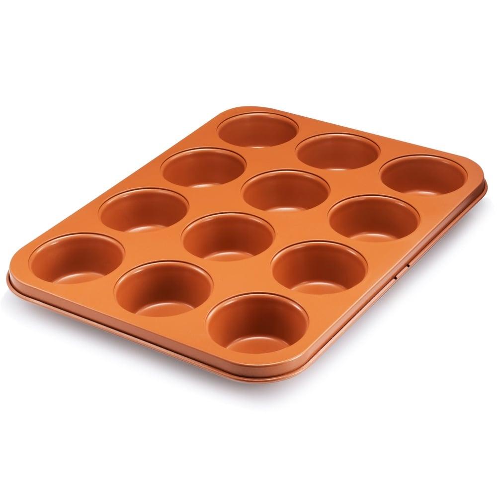 """NEW! Nonstick Gotham Steel Bakeware Round 9.5/"""" Copper Baking Cake Tin"""