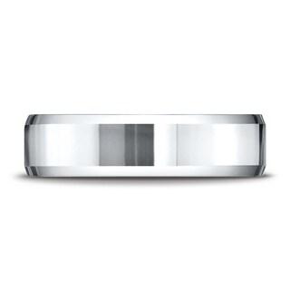 Platinum 6mm Comfort-fit High Polished Carved Design Band