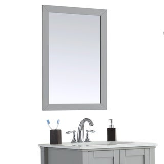 WYNDENHALL Windham Grey Bath Vanity Décor Mirror