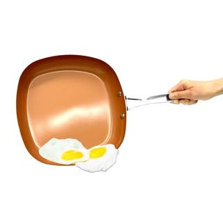 Gotham Steel Copper Non-stick Square Shallow 9.5-inch Fry Pan Ti Cerama|https://ak1.ostkcdn.com/images/products/15891097/P22297032.jpg?impolicy=medium