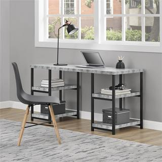 Ameriwood Home Ashlar Concrete Grey Desk