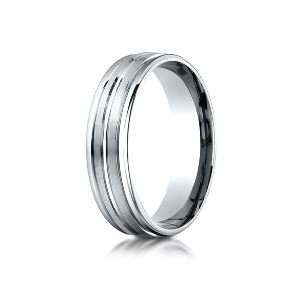 Ring Size 11 Security Jewelers Tungsten 8mm Rounded Edge Band with Satin Center Size 11