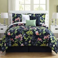 Porch & Den Charleston Floral 7-piece Microfiber Comforter Set