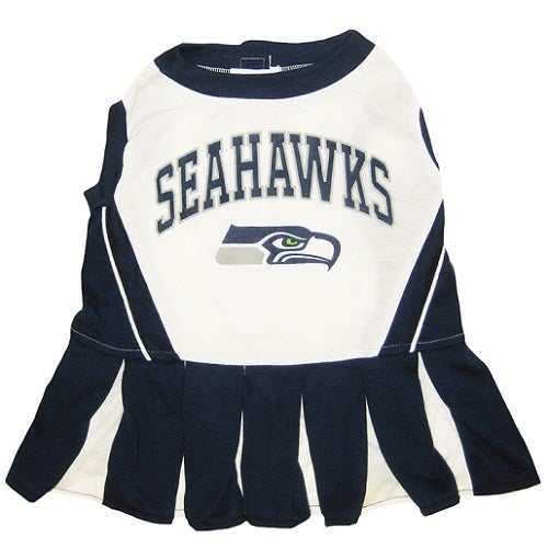 First Seattle Seahawks Cheerleader Dog Dress (Small), Mul...