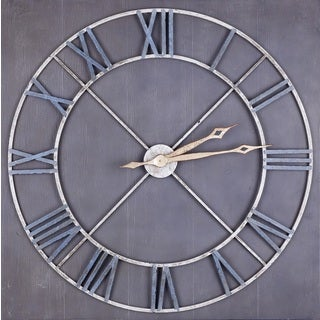 Hobitholeco Grey Wood Metal Wall Clock
