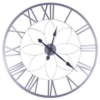 31.5X31.5 Circular Metal Wall Clock