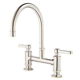 Pfister Port Haven GT31-TDD Polished Nickel Bridge Kitchen Faucet