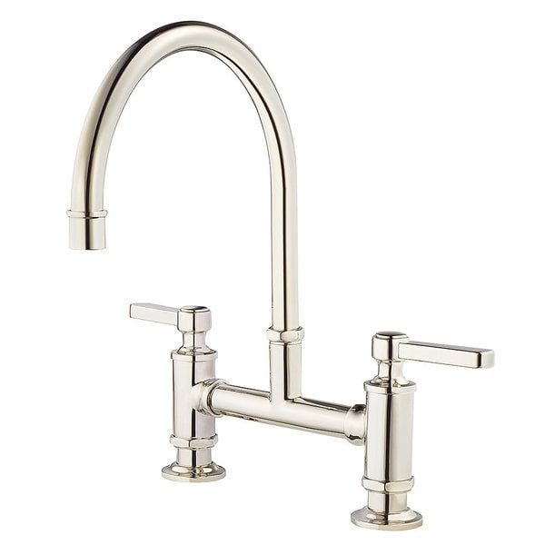 Pfister Port Haven Gt31 Tdd Polished Nickel Bridge Kitchen Faucet