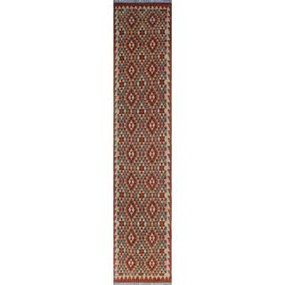 Sangat Kilim Cebrail Red/Green Rug (2'9 x 13'1)|https://ak1.ostkcdn.com/images/products/15891263/P22297216.jpg?impolicy=medium