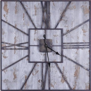 Hobbitholeco Antique Wood and Metal Wall Clock