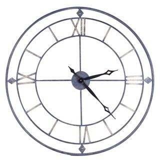 Hobbitholeco Spartan 38-inch Circular Openwork Metal Wall Clock (As Is Item)