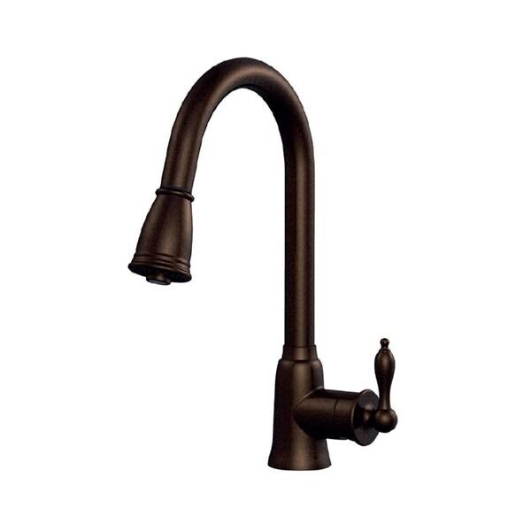 Danze Prince D454410br Tumbled Bronze Single Handle Kitchen Pull Down Faucet