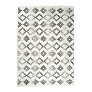 Dynamic Rugs Topaz Geometric Grey Wool Area Rug (5' x 7')