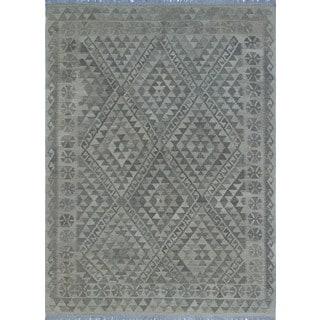 Noori Rug Sangat Kilim Simten Beige/Brown Rug - 4'9 x 6'5