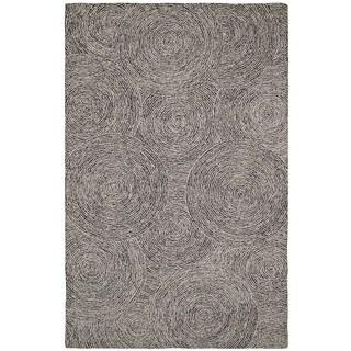 Dynamic Rugs Polar Ivory and Black Wool Area Rug (3'6x5'6)