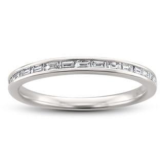 Link to 14k White Gold 1/4ct TDW Baguette-Cut Diamond Wedding Band (H-I, VS2) Similar Items in Wedding Rings