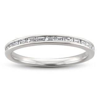 14k White Gold 1/4ct TDW Baguette-Cut Diamond Wedding Band (H-I, VS2)