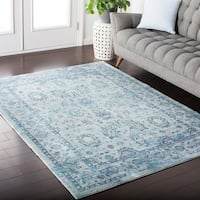 Colony House Vintage Oriental Light-Blue Area Rug - 9' x 12'