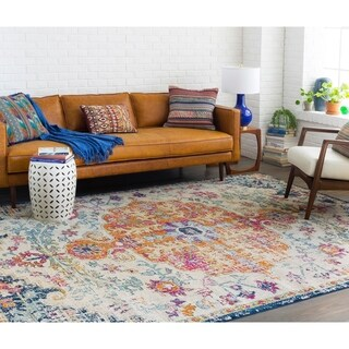 Distressed Bohemian Multicolor Medallion Rug (9'3 x 12'6)