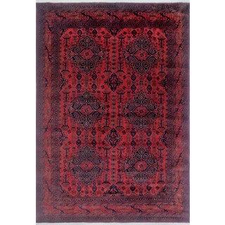 Noori Rug Khal Mohammadi James Red/Black Wool Hand-knotted Rug (8'1 x 11'2)